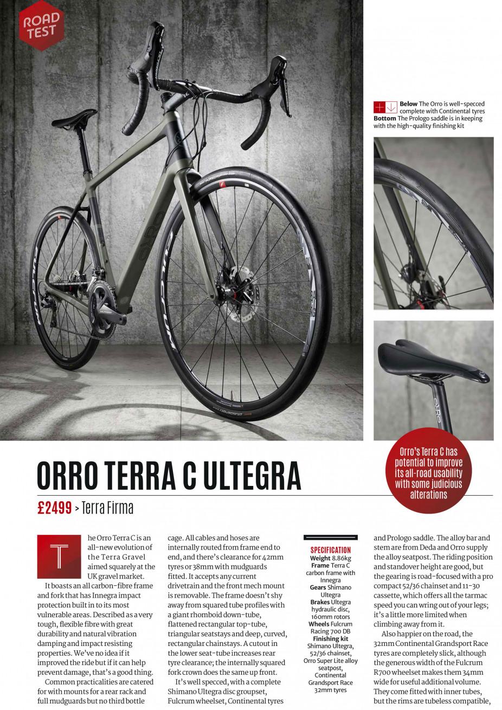 Terra C In Cycling Plus Magazine Orro Bikes