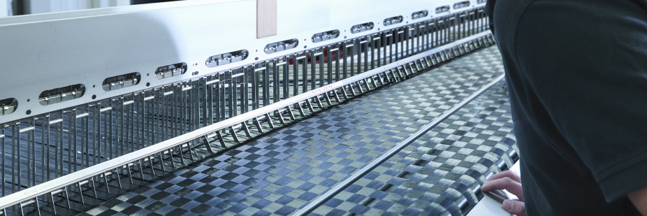 SigmaST carbon fibre textile being produced